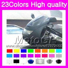 Zx6r Windscreen Australia - 23Colors Windscreen For KAWASAKI NINJA ZX6R 94 95 96 97 ZX-6R 6 R ZX 6R 1994 1995 1996 1997 Chrome Black GPear Smoke Windshield