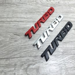 peugeot car emblem Canada - 3D Car Emblem Sticker TURBO METAL GRILL Rear Trunk Car Badge for Audi BMW Ford focus VW skoda seat Peugeot DS Renault Hyundai