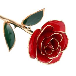 $enCountryForm.capitalKeyWord UK - 24K Gold Dipped Trim Real Rose for Valentines's Day Wedding Anniversary Gold Dipped Rose Luxury Mother's Day Christmas Gift