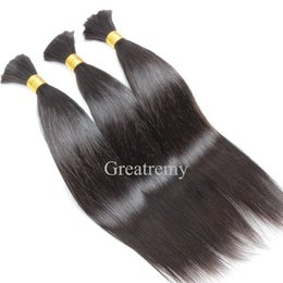 China 8A Brazilian Human Hair Bulk For Hair Extensions Silky Straight 12-32inch Brazilian Braiding Hair Greatremy Drop Shipping supplier human hair for braiding 28 inches suppliers