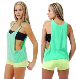 $enCountryForm.capitalKeyWord Canada - 2016 Newest Sexy Women Halter Sport Casual Deep V Back Vest Loose Tops Blouse Cheap Womens Clothing Free Size WY6931