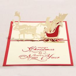 $enCountryForm.capitalKeyWord Canada - Santa Ride 3D Pop UP Greeting Handmade paper Creative Happy Birthday Christmas Cards wedding invitation cards