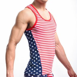 $enCountryForm.capitalKeyWord Canada - Men's Sleeveless Tops Tank Classic USA Flag Printed Mens Tops Tank Cotton Men Casual Sexy Low Waist Convex Design Vest Undershirts
