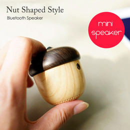 $enCountryForm.capitalKeyWord Canada - Mini Cool Nuts Bluetooth Stereo Speaker Wood outdoor Nuts Portable Loudspeaker with handsfree Mic for Mobile phones Backpack travelling Gift