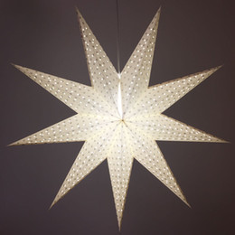 $enCountryForm.capitalKeyWord Canada - 27 Inch Paper Star Lanterns White 9 Pointed Hanging Star 100% Hand-crafted for Christmas Wedding Decoration