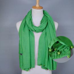 $enCountryForm.capitalKeyWord Canada - Wholesale plain crystal diamond ball scarf fashion cotton viscose long shawls muslim hijab wrap scarves scarf