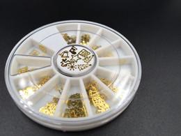 Christmas Gift Nails Australia - Fashion 3D Tips Metal Sticker DIY Wheel Boots Christmas Tree Jewelry Nail Art Xmas Decoration Design Wheel Christmas Gift