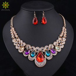 $enCountryForm.capitalKeyWord Canada - Fashion Indian Jewellery Blue Crystal Necklace Earrings Bridal Jewelry Sets For Brides Party Wedding Accessories Decoration