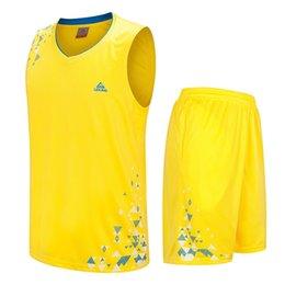 Barato Roupas Para Meninos Adolescentes-2017 New Kids Basketball Jersey Sets Uniformes Child Boys Sports Clothing Quick Dry respirável Teenage Ball jerseys curto