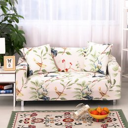 Colorful Bird Printed All Inclusive Sofa Cover For Living Room Stretch Furniture  Cover Couch Cover Towel 1 2 3 4 Seater Cheap Furniture Covers For Sofas