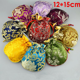 $enCountryForm.capitalKeyWord NZ - Thicken Filled Cotton Small Bag Christmas Bags Gift Packaging Chinese Silk Brocade Jewelry Pouch Drawstring Wedding Party Favor Bags 10pcs l