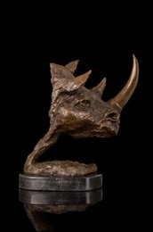 $enCountryForm.capitalKeyWord Australia - head Arts Crafts The bronze sculpture crafts copper ornaments gifts Home Furnishing Hotel Decor rhino DW-167