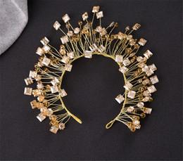 $enCountryForm.capitalKeyWord Canada - Wholesale Vintage Beaded Headband Wedding Bridal Crystal Rhinestone Headpiece Hair Accessories Jewelry Crown Tiara Princess Queen Fascinator