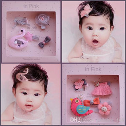 Pin ears online shopping - 8 styles Kid hair accessories Sets Sequin Crown Bunny Ear Bow Flower boutique Hair bows Toddler barrettes Girls Hair Pin Set cute hairs Clip