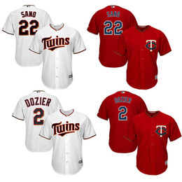 6b6243d75 ... Base Authentic Collection Team Jersey Mens Minnesota Twins 2 Brian  Dozier 100% stitched 22 Miguel Sano jerseys Majestic Red White ...