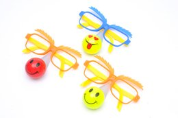 Discount new clown masks - free shipping whilesale Clown nose glasses flash light emitting Masquerade Mask Concerts emitting toys wholesale supply