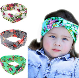 Discount kids bandana headbands - Cute Europe Infant Headbands Floral  Crossed Cotton Hair Band Girl Baby 712ab741d6b
