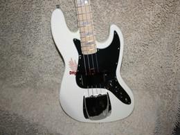 $enCountryForm.capitalKeyWord Canada - Custom 4 strings Electric bass white Bass guitar Maple fingerboard OEM Guitar Free Shipping