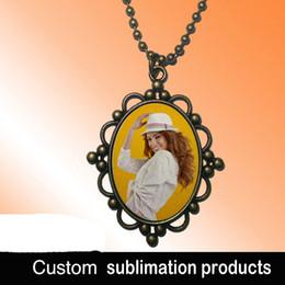 Custom Design Gifts Canada - Sublimation Blank pendants Europe court style women popular individuality necklace custom picture photos design pendant jewelry wholesaleM29