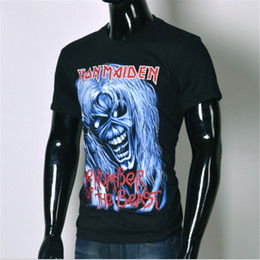 e3f4cfef028 Wholesale-Brand clothing 2016 new Arrival Europe And America Top Hot 3d  tshirt Men s Casual T-shirt Iron Maiden Print Tops Tee Size S-XXL