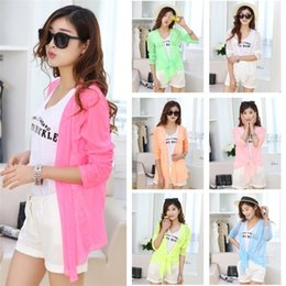 Wholesale Embroidered Coat Long sleeve Organza Sun Protection Clothing Anti uv Female Thin Outerwear Beach Shirt Design Women Coat