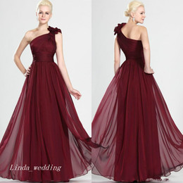 $enCountryForm.capitalKeyWord Canada - Burgundy Wine Red Evening Dress One Shoulder Long Bridesmaid Dress Maid Of Honor Dress Prom Party Gown
