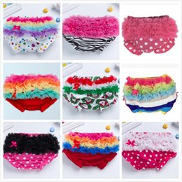 Natural Cotton Underwear Canada - 19 Styles Newborn Baby PP Briefs Shorts Babies Girls Lace Ruffles Triangle Pants Panties Infants Toddlers Cotton Underwear Briefs For 0-3T