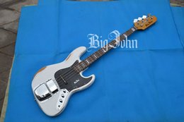 Big Basses NZ - free shipping new Big John vintage style 4 strings electric bass guitar in white F-3308