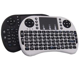Discount laptop air dhl - Rii I8 Fly Air Mouse Mini Wireless Handheld Keyboard 2.4GHz Touchpad Remote Control For M8S MXQ MXIII TV BOX Mini PC DHL