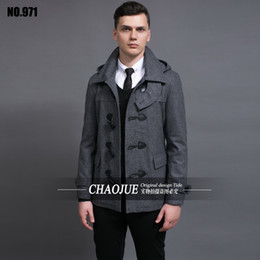 Discount Short Pea Coat Men | 2017 Men Short Pea Coat Jacket on ...