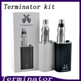 bottom feeder box mod NZ - Terminator Box Mod Starter Kit Terminator Mods Bottom Feeder 18650 Battery 510 Thread Firing Button Vs Lucifer Box Mod Kbox 120W 0211199-2