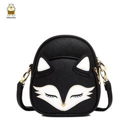 Discount cross bags for girls - Wholesale- Hot New 2017 Cute Cat Shoulder Bags Fox Face Women Baby Girl Mini Bags For Women Cross Body lolita bag high q