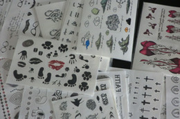 Body Art Face Paint Canada - 9.5*14.5cm 50Pcs Wholesale Mixed Types Temporary Tattoos Tattoo Stickers For Body Art Painting Waterproof Mix Designs