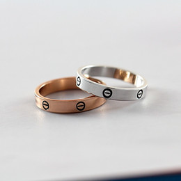 $enCountryForm.capitalKeyWord Canada - Brand Simple Alloy Ring 18K Gold Plated Rose Gold Plated Round Pattern Graved For Lovers Men And Women Presents