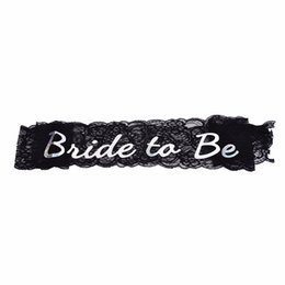 $enCountryForm.capitalKeyWord UK - 1PCS sash for bachelor bachelorette hen party bride lace black to be for Birthday Wedding Party Decoration gift craft DIY favor