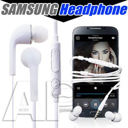 Wholesale Earphones With Mic For Samsung Galaxy S7 S6 S4 J5 N7100 Headphones In ear PVC Mobile Phone Handsfree Microphone NO package