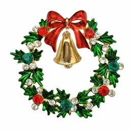 China Christmas Brooch Rhinestone Crystal Brooches Jeweled 6 Styles Christmas Trees Snowflake Brooch And Pin Clothes Decor Christmas Gifts suppliers