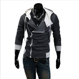 12 couleurs M-6XL Hoodies Hommes Sweat Mâle Masque Veste À Capuche Casual Sports Mâle À Capuchon Vestes Manteau de sport Moleton Assassins Creed