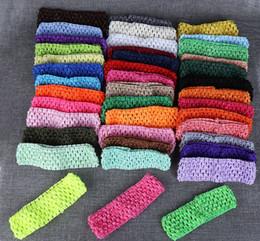 "Korea Child Hair Canada - 2016 38 color 1.5"" Korea Children Knitted elastic headbands Baby Crochet hair band free shipping"