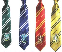 $enCountryForm.capitalKeyWord Canada - New fashion Harry Potter ties mens ties Polyester Jacquard tie halloween costume cosplay props with the logo free shipping