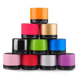 mp3 player hi fi bluetooth Canada - S10 Bluetooth Speakers Mini Wireless Portable Speaker LED Light Ring HI-FI Music Player Home Audio for iphone Samsung Mp3 Player