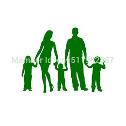 $enCountryForm.capitalKeyWord Canada - Wholesale 20pcs lot Home Decorations Automobile and Motorcycle with Products Vinyl Decal Car Glass window Stickers Jdm Stick Figure Family