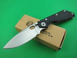 Discount strider knives - Drop Shipping OEM Strider Surival Folding Knife 8Cr13 Satin Blade Black HoneyComb Handle EDC Pocket Knives With Retail B