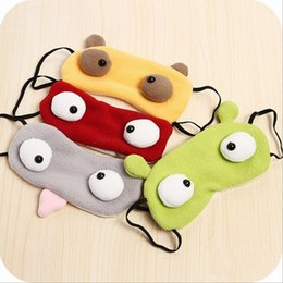 Barato Olhos Bonitos Do Remendo Do Sono-Cute Eyes Shading Sleeping Mask Portable Soft Viagem Sono Resto Assistente Máscara de olho Cobertura Oculos Patch Sleeping Mask Case