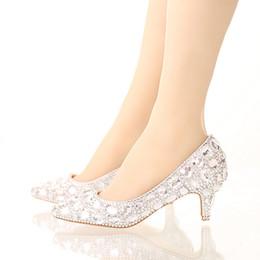 花嫁クリスタルシューズラインストーンの結婚式の靴シルバーハイヒールのプラットフォームイベントシューズ女性の手作りファッションパーティードレスシューズ