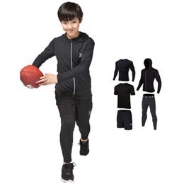 $enCountryForm.capitalKeyWord UK - Brand Kids Compression Running Sets Sports Suit jacket shirts Shorts Pants Football Basketball Jerseys 4pcs