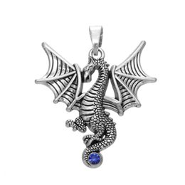 $enCountryForm.capitalKeyWord UK - Flying Wings Dragon Charms Tail Set With Blue Crystal for jewelry Custom DIY making