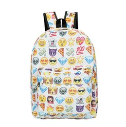 4817e59b7f Emoji Backpack School Bags Children Canvas Backpacks Expression Cartoon  Schoolbag Expression Pattern Print Backpack 4 Colors