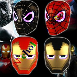so cool 2017 led flash mask children halloween gift masks glowing lighting mask avengers hero man party mask - Cool Masks For Halloween