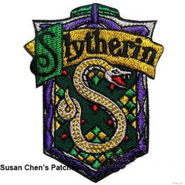 Barato Remendos De Ferro Harry Potter-Harry Potter Slytherin Iron on Patches Embroidery Patches 10pca muito